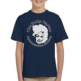 Der Dolly Parton Appreciation Society Kinder T-Shirt