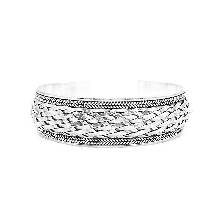 Sterling Silver Woven Solid Sterling Silver 925 Bracelet