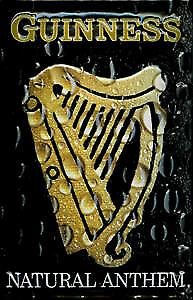 Guinness Natural Anthem embossed steel sign (hi 3020)