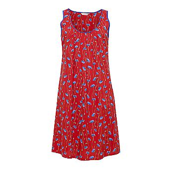 Cyberjammies 4130 Women's Mia Red Floral Print Night Gown Loungewear Nightdress