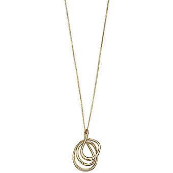 Elements Gold Wire Wrap Pendant - Gold