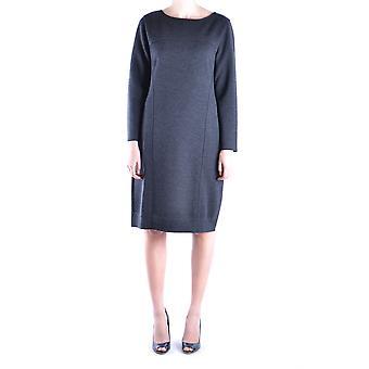 Alberta Ferretti Grey Wool Dress