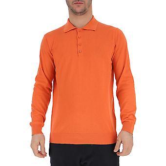 Laneus Orange Cotton Polo Shirt
