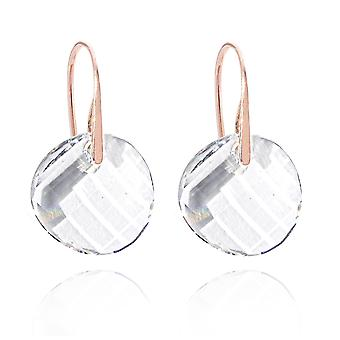 Ah! Jewellery Rose Gold Over Sterling Silver Clear Twist Earrings