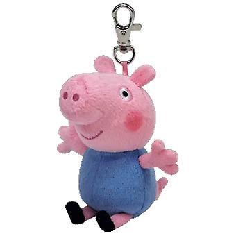 Peppa Pig TY Key Clip - Peppa Pig George