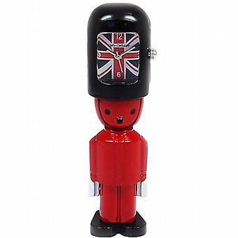 Miniature England Red Toy Queen Guard Soldier Union Jack Collectors Clock 9731