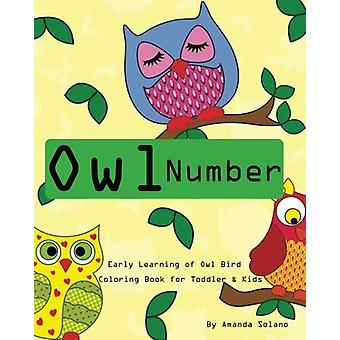 Toddler Color Books - Owl Number Early Learning Kids - Fun First Number