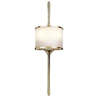 Elstead - 2 Light Wall Light - Polished Brass - KL/MONA/S PB