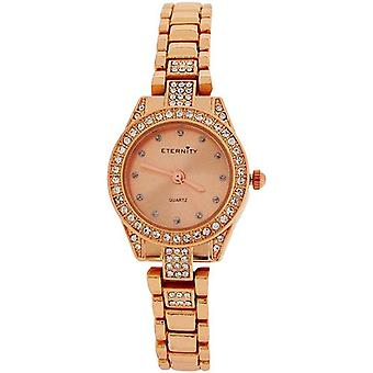 Eternity Ladies Swarovski Crystal Bezel Rose Goldtone Bracelet Strap Watch ET78E