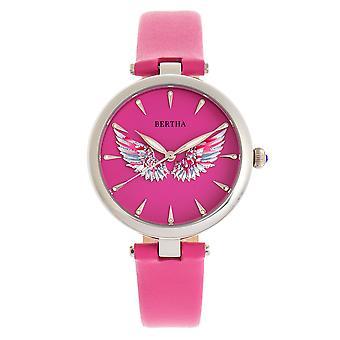 Bertha Micah Leather-Band Watch - Pink