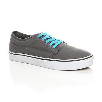 Ajvani Herre lærred lace up pumper espadriller trænere sneakers skate sko