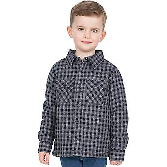 Trespass Boys Average Knitted Cotton Lined Long Sleeve Shirt
