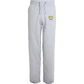5e Royal Irish Lancers - Licensed British Army Embroidered Open Hem Sweatpants / Jogging Bottoms