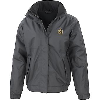 Staffordshire Regiment Veteran - Licensed British Army Embroidered Waterproof Jacket With Fleece Inner