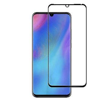 Skærmbeskytter hærdet glas buet Huawei P30 Pro transparent sort (halvt lim)