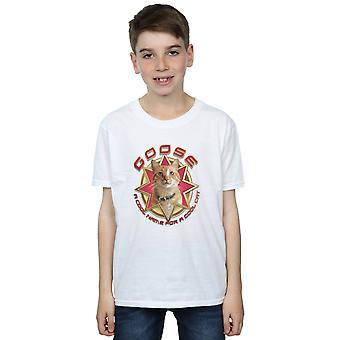 Marvel Boys kaptein Marvel Goose Cool Cat T-skjorte