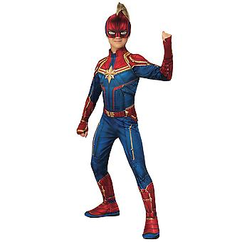 Captain Marvel Hero Suit Avengers Superhero Book Week Girls Costume
