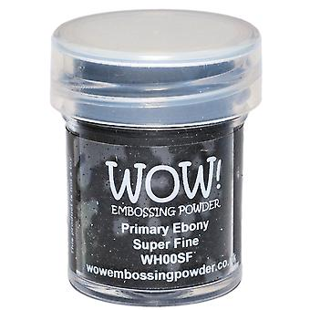 Wow! Embossing Powder Super Fine 15Ml Primary Ebony Wow Sf Wh00s