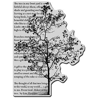 Stampendous Cling Rubber Stamp Tree Poem Crr164