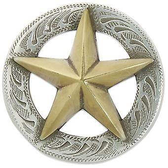 3D Texas Star Concho with Screwback 1