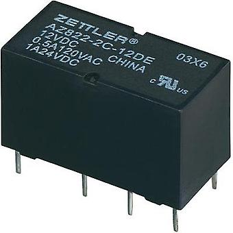 PCB relays 12 Vdc 2 A 2 change-overs Zettler Electronics 1 pc(s)
