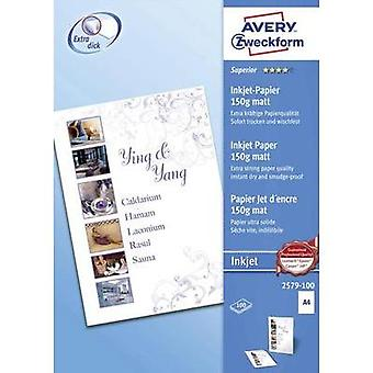 Inkjet printer paper Avery-Zweckform 2579-100 2579-100 DIN A4 150 gm² 100 Sheet White