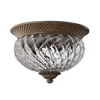 Lampada da soffitto tradizionale piantagione con vetro chiaro ottico