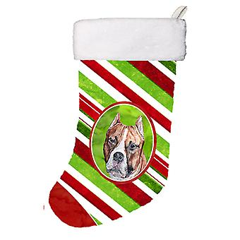 Staffordshire Bull Terrier Staffie Candy Cane Christmas Christmas Stocking