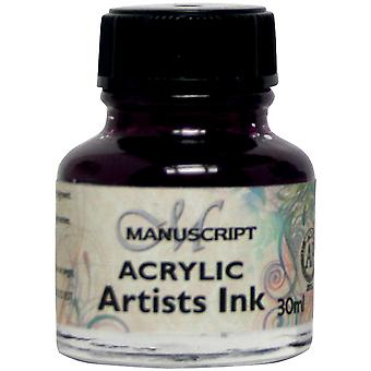 Manuscript Acrylic Artists Ink 30ml-Purple Lake MDP0-47