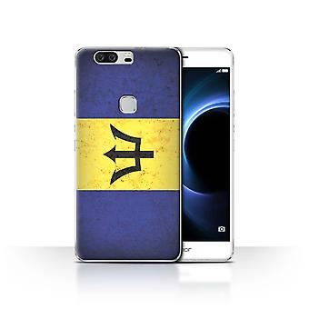 STUFF4 Case/Cover for Huawei Honor V8/Barbados/Barbadian/Americas Flag