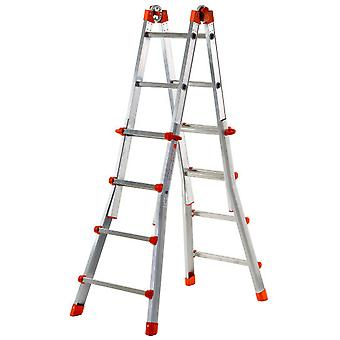 Gierre Aluminum Telescoping ladder Acal100 Peppina (5 + 5 Treads)