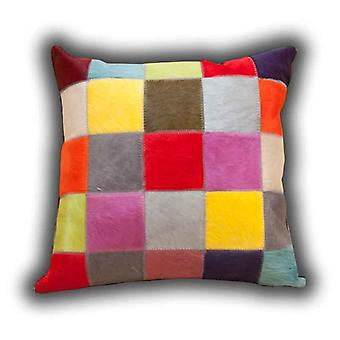 Rugs -Leather Patchwork Cushion Fancy Colours