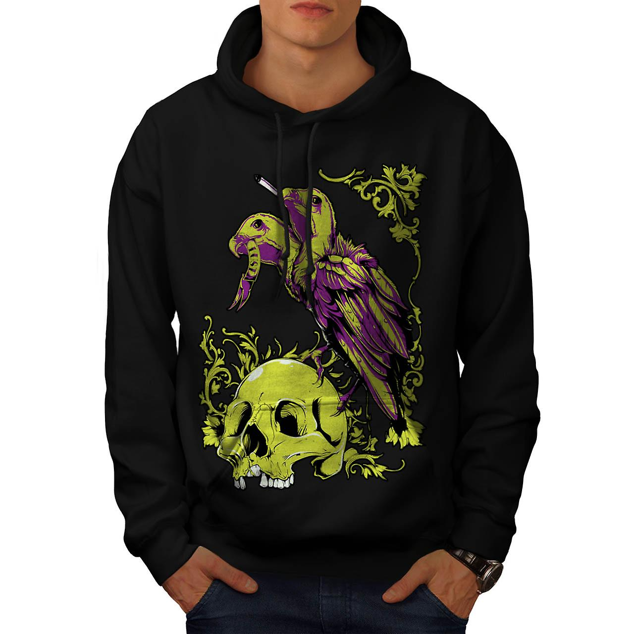 Horror Badass Death Skull Men Black Hoodie | Wellcoda