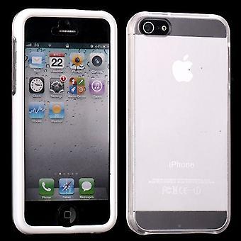 Dekk med to deler, med gjennomsiktig tilbake til iPhone 5 (hvit)