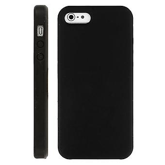 Custodia morbida in Silicone per iPhone 5 (nero)