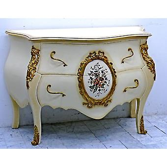 baroque vitrina glass cabinet  cupboard chest of drawers white Louis XV MoCoC0140