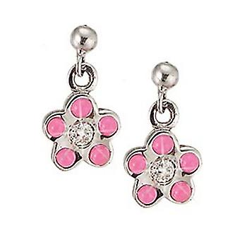 Scout children earrings ear cutter Silver Flower Pink girl 262077100