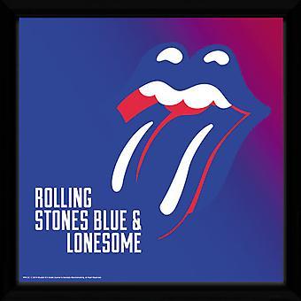 Toczne kamienie niebieskie i samotny oprawione Album Print