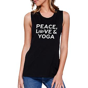 Peace Love Yoga Muscle Tee Yoga Work Out Tank Top Cute Yoga T-shirt