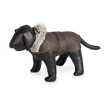 Nobby Marian Dog Coat Brown With Hood 36cm