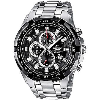 Casio Edifice EF-539D-1AVEF Black & Stainless Steel Chronograph Analogue Wrist Watch