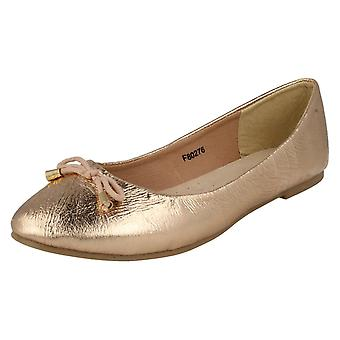 Damer læder samling Slip på Ballet sko F80276