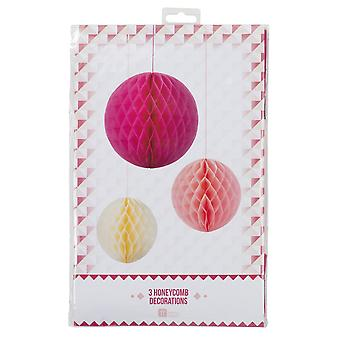Talking Tables Decadent Decoration Honeycomb Blossom Mix Paper, Pack of 3
