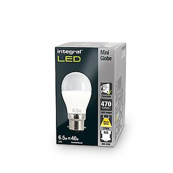 3R2/I1: B22 470Lumens 6.2W eq. to 40W 2700k 80cri 140� Frosted. DIMMABLE. 95-25-62
