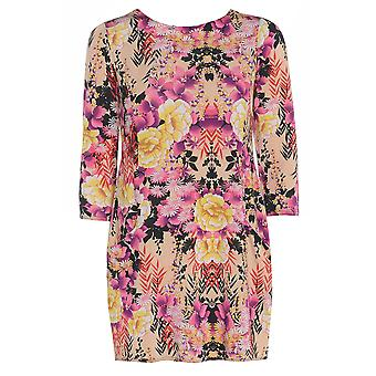 Pink Floral Satin Look Top TP416-L