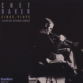 Chet Baker - Sings Plays-Live at the Keystone Korner [CD] USA import