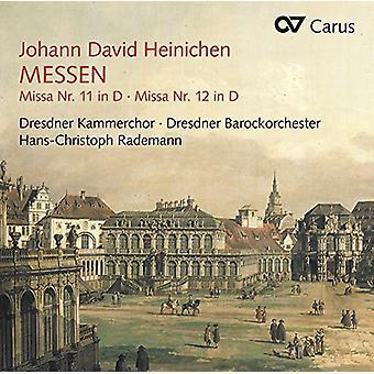 Heinichen / Dresden Kammerkor / Rademann - masserne nr. 11 & 12 [CD] USA import
