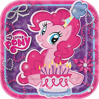 My Little Pony 7 Inches Square Party Plates [8 Per Pack]