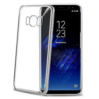 Celly Laser Cover Galaxy S8 Silver