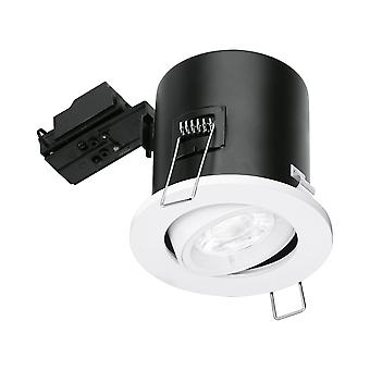 Aurora GU10 Fire Rated Tilted Downlight - White